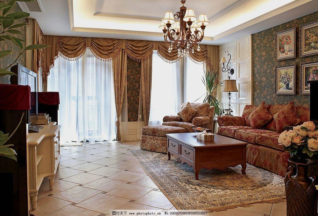 客厅 地板 瓷砖 欧式风格 家装 装修 装潢 建筑园林 室内摄影