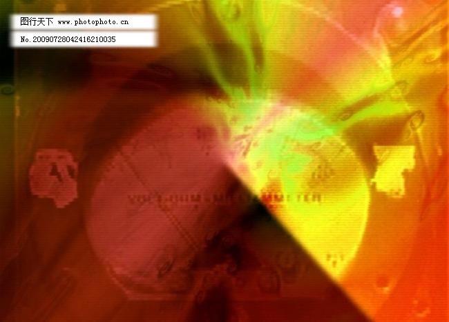 路标指示 电子相册素材 多媒体设计 非线性编辑 高清晰 黄红背景