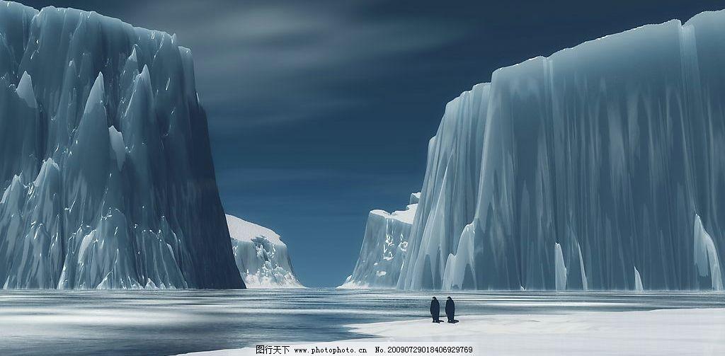南极冰山小企鹅 手绘 动漫动画