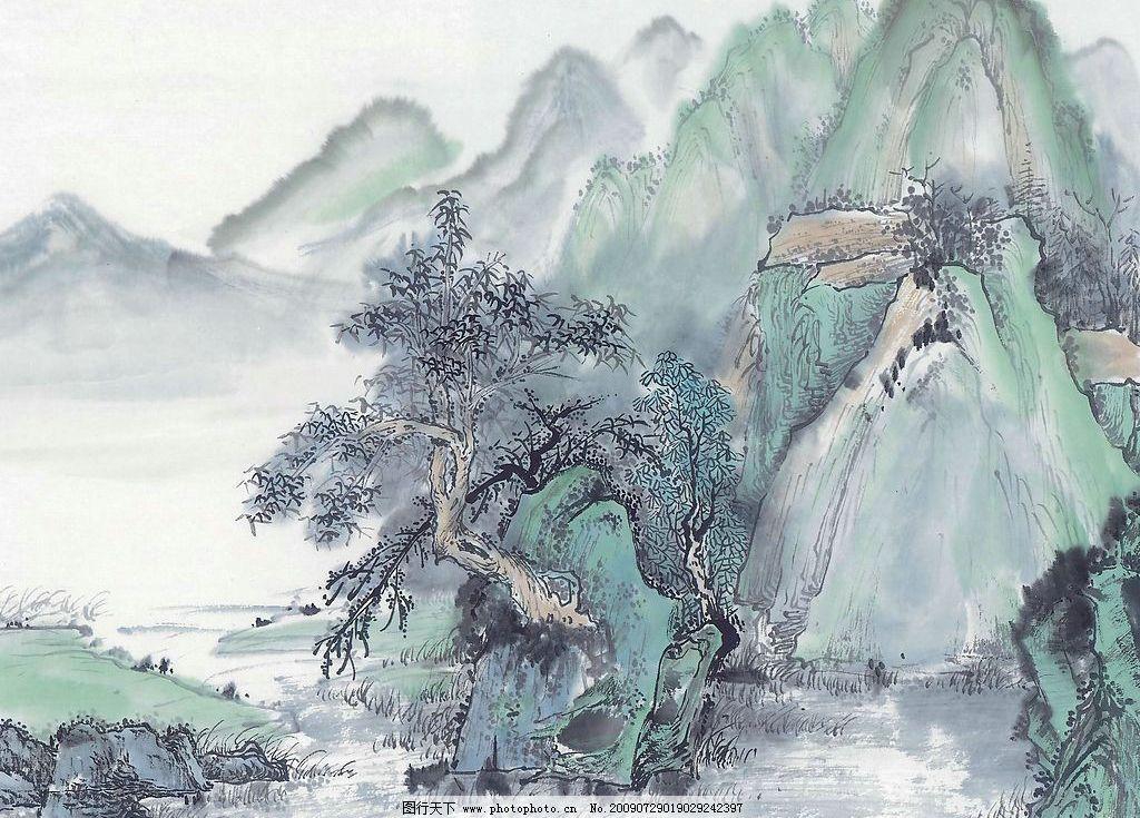 水墨山水画 水墨画 山水 国画 山水画 风景画 文化艺术 绘画书法 设计