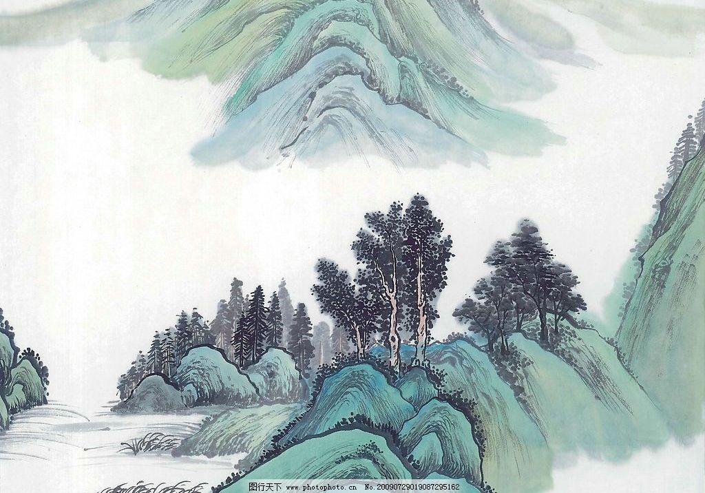 山水画铅笔画简笔画_绘画分享