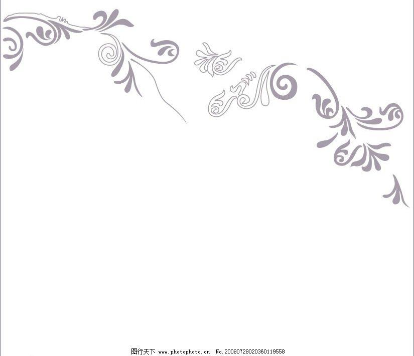 淡紫花纹 紫色 移门 简单 简洁 底纹边框 花纹花边 矢量图库
