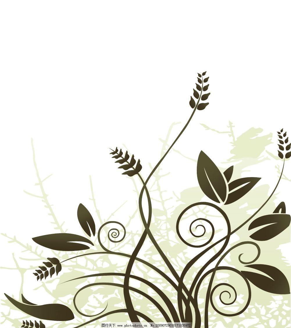绿色藤蔓 花纹 移门 绿色 藤蔓 背景 广告设计模板 移门图案 源文件库