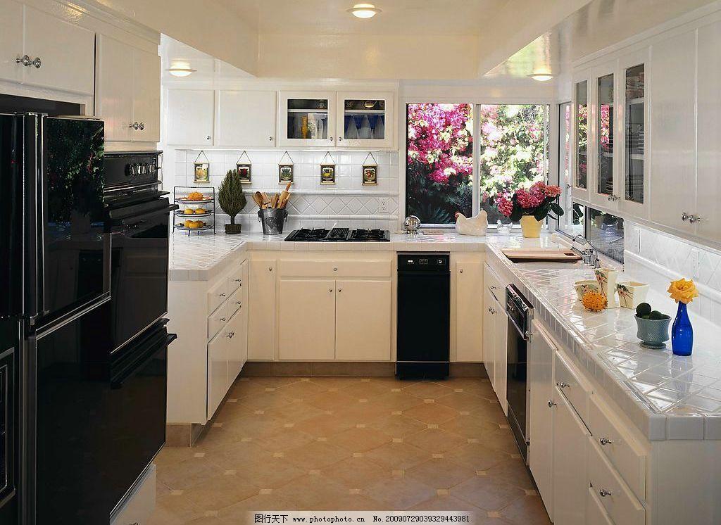 厨房图片,柜子 生活用品 冰箱 花 灶具 建筑园林-图行