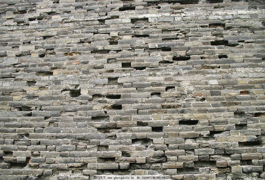 设计图库 环境设计 园林设计  古城墙肌理 旧城墙 残缺 特写 砖 灰色
