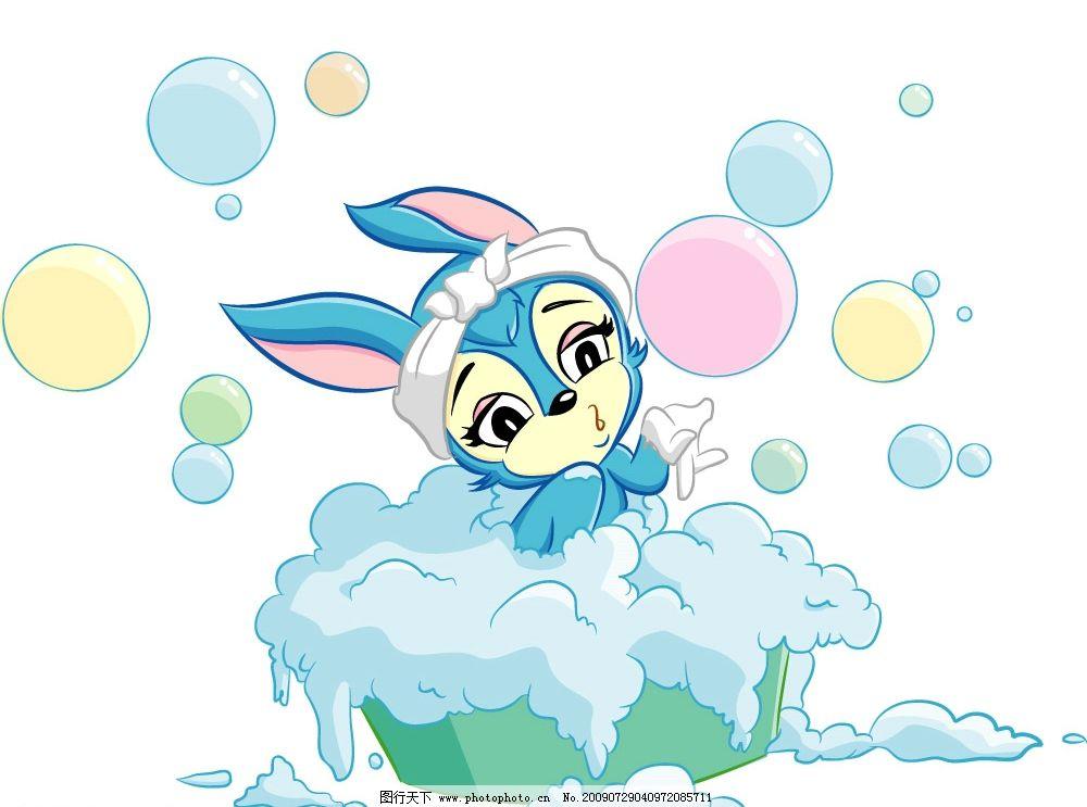 虹猫蓝兔 可爱的蓝兔 卡通 矢量人物 儿童幼儿 矢量图库