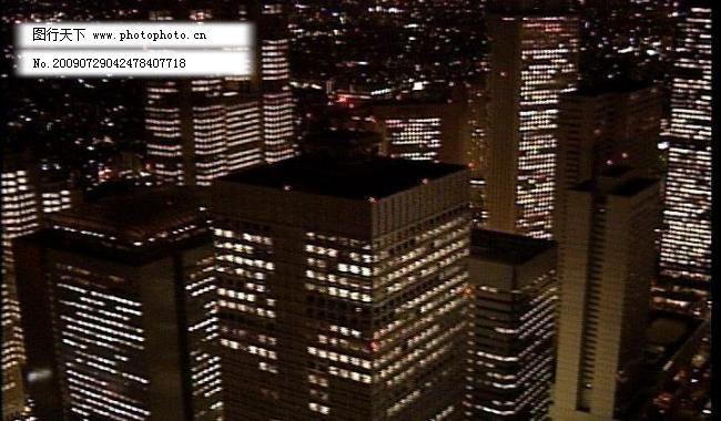 都市夜景 城市 灯光 电子相册素材 多媒体设计 非线性编辑 高清晰