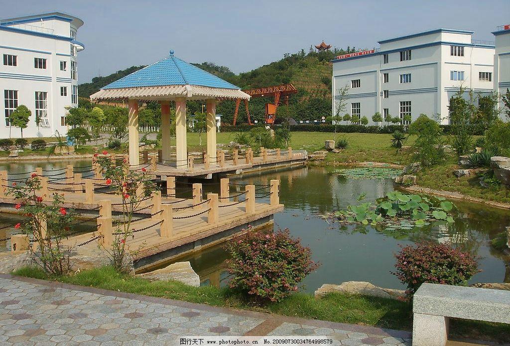 花園 房子 花草 亭子 蓮藕 水 自然景觀 建筑景觀 攝影圖庫 96dpi jp