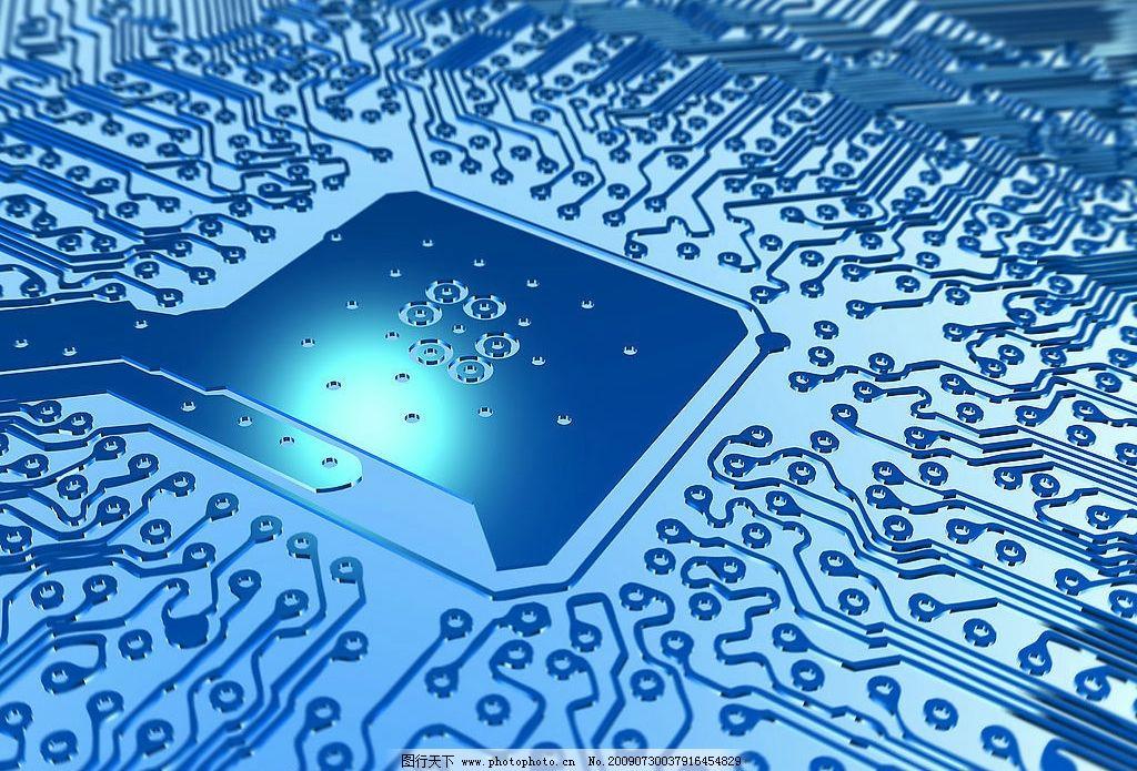 集成板 电脑线路板图片 电路板 工业 现代科技 工业生产 摄影图库
