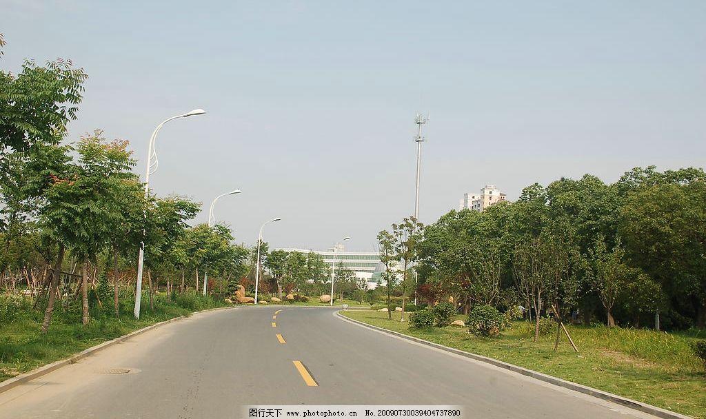 马路 道路 绿树      斑马线 南昌风光 南昌风景线 建筑园林 建筑摄影