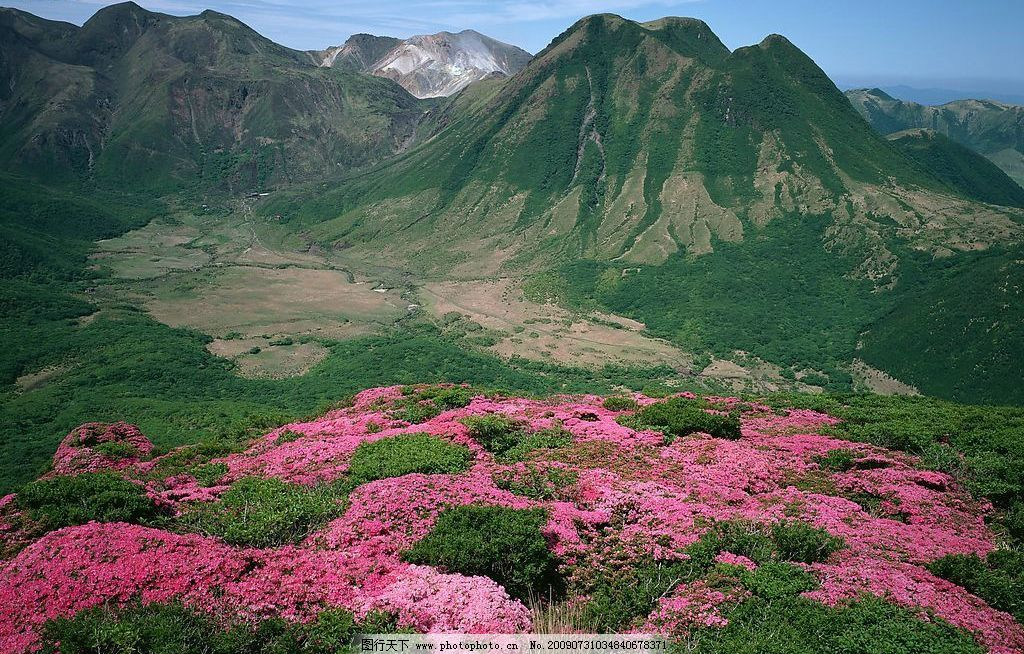 映山红 山峰 山景 自然景观 自然风景 摄影图库 72dpi jpg