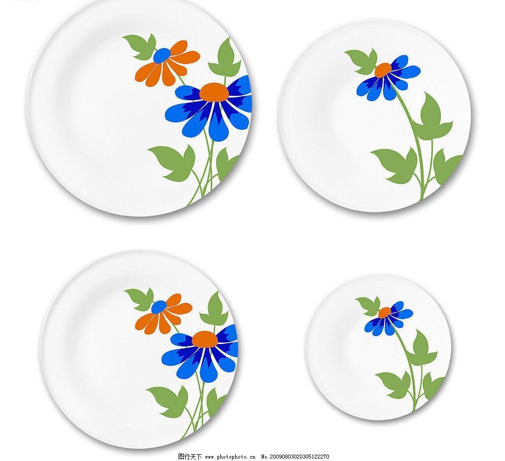 花纸设计 陶瓷花纸设计 碗 盘 花朵 底纹边框 花边花纹 设计图库 300