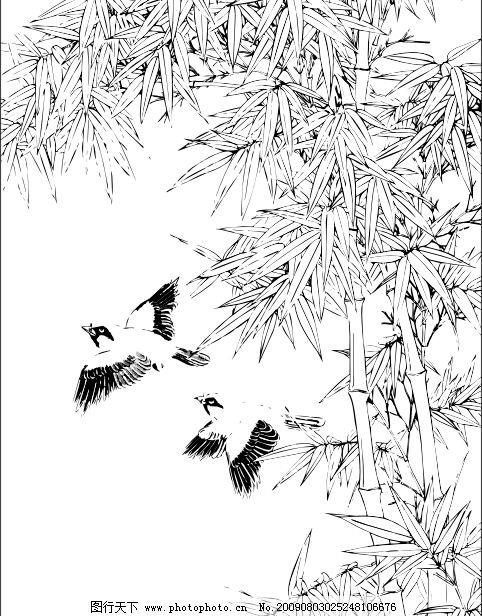 橡皮章素材古风竹子