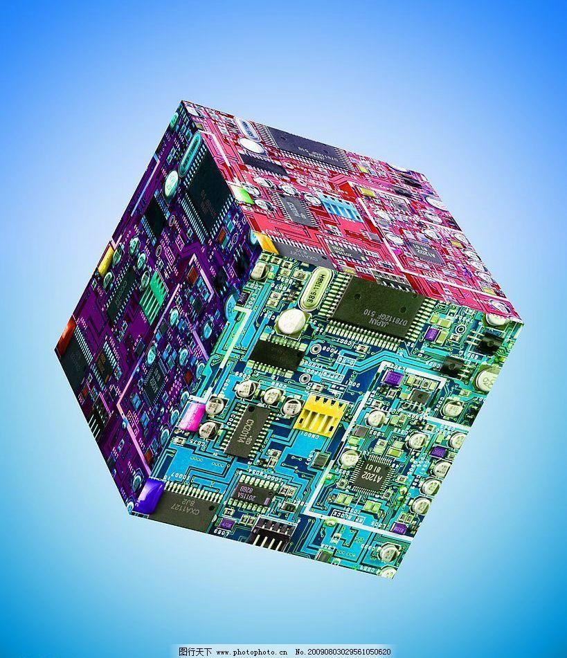 抽象电路 电子艺术 抽象电路图 电路魔方 电子原件 广告设计 设计图库