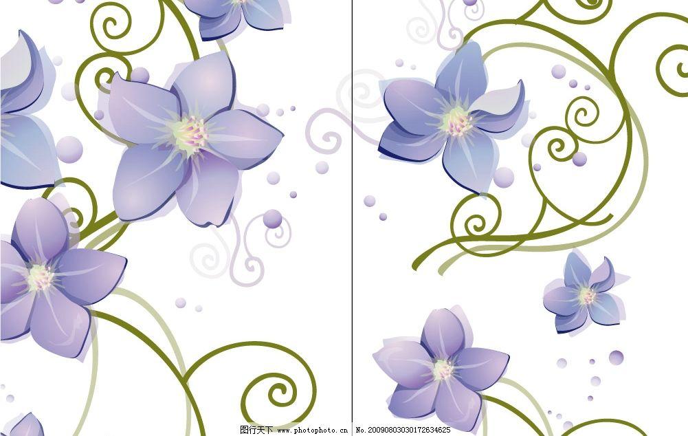 紫藤花 花 紫色 底纹边框 花纹花边 移门 广告设计 移门图案 矢量图库