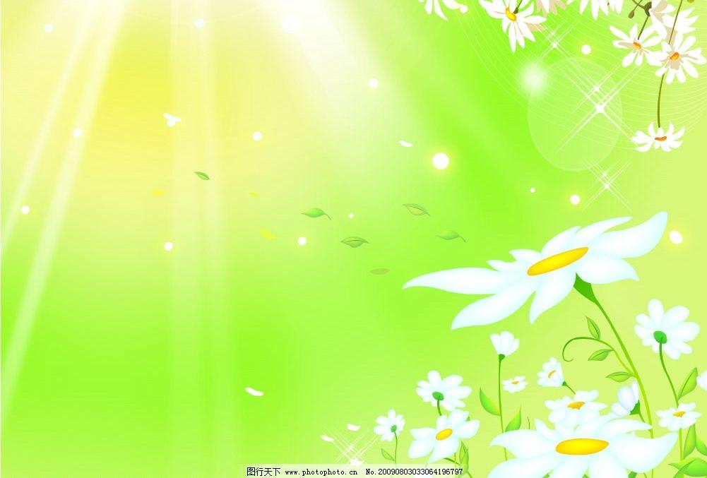 春天来了 小花 花纹 阳光
