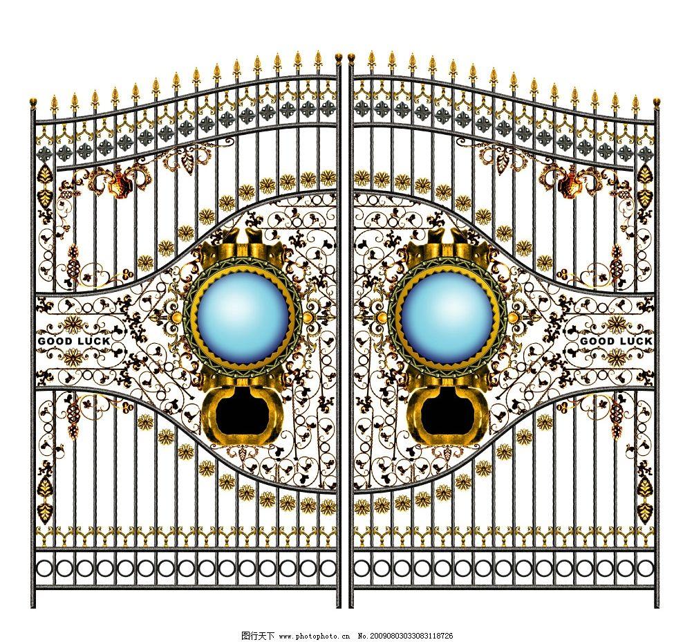 铁艺门3 高清欧式铁艺门 铁门 工艺门 花纹 房地产 地产素材