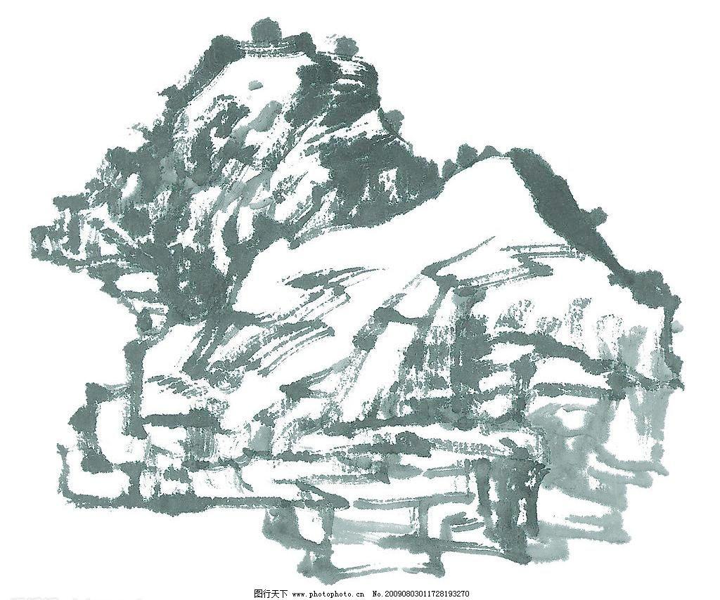 水墨山水画 风景画 国画 绘画书法 水墨画 文化艺术 水墨山水画设计素