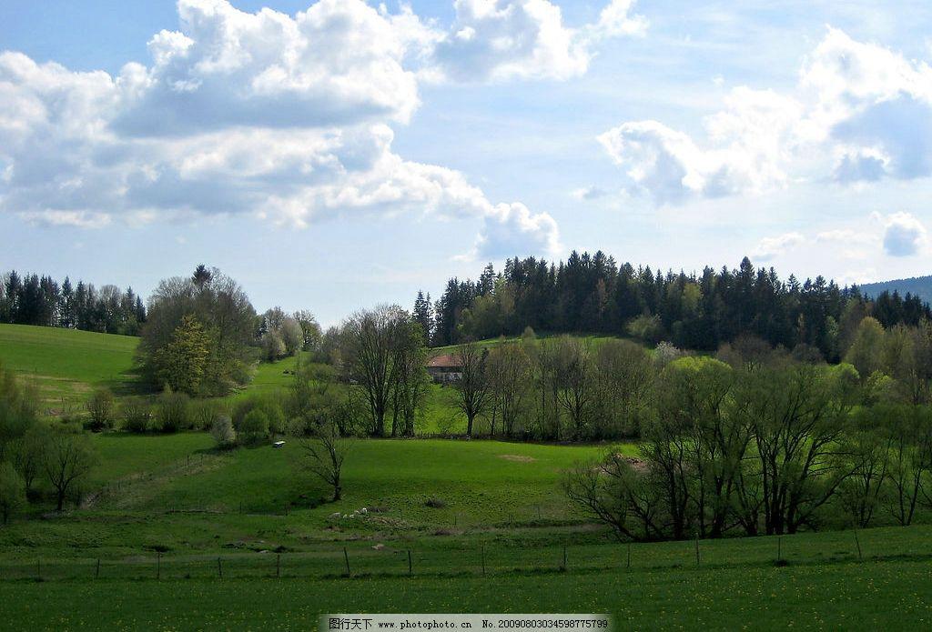 德国北巴伐利亚天然森林公园风景图片