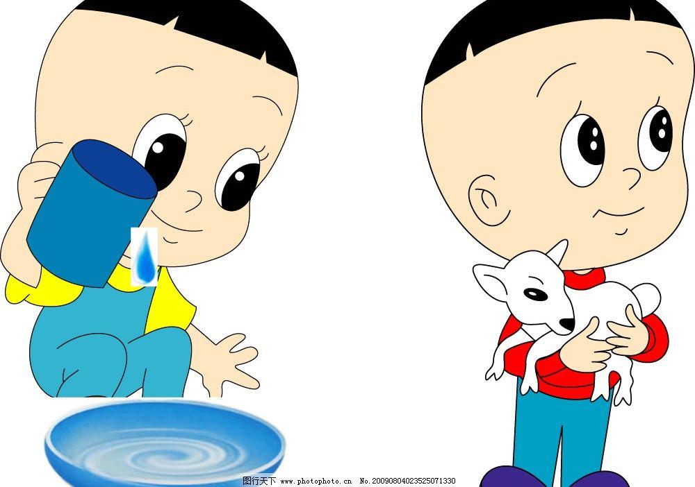 大头儿子 大头儿子小头爸爸 卡通 画动 可爱 羊 矢量人物 儿童幼儿