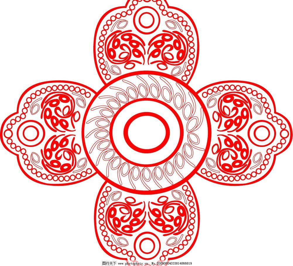 形图案 花纹 剪纸 矢量花形图 其他矢量 矢量素材 矢量图库 cdr-古典凤