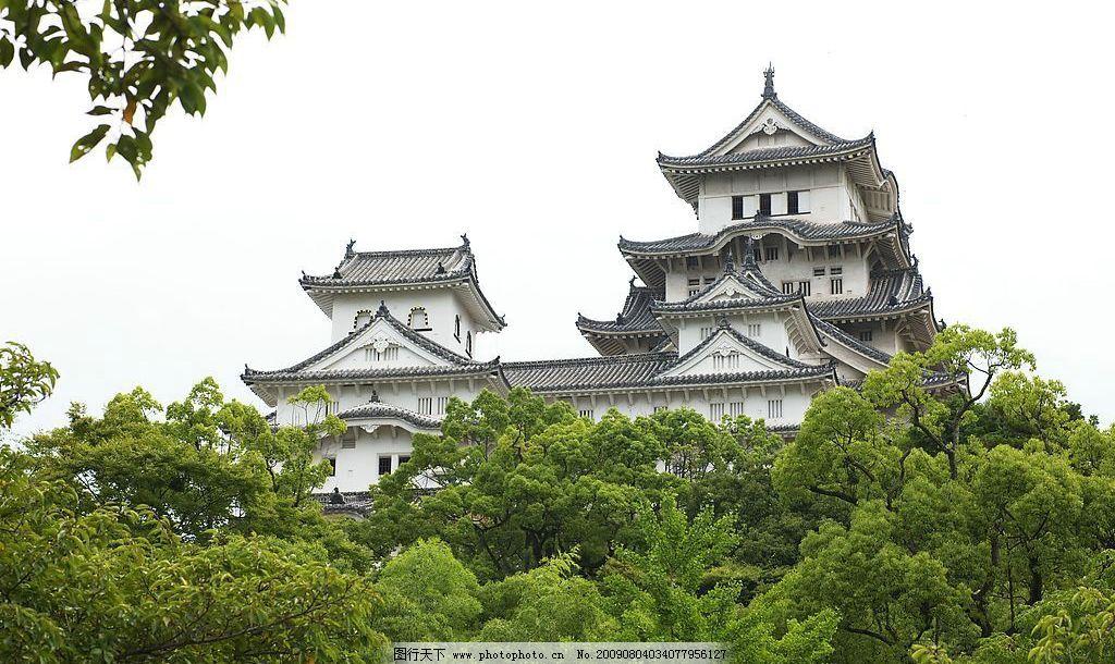 姬路城 日本古城 风景名胜 旅游摄影 国外旅游 摄影图库