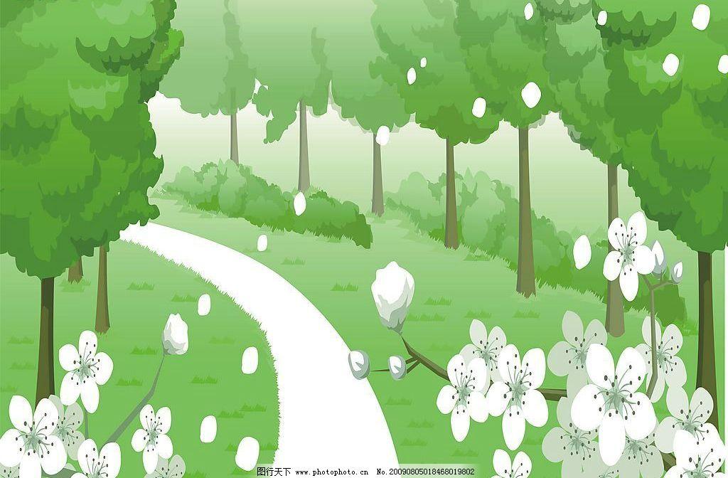 梨花若雪 玻璃移门图案 梨花 树木 环境设计 其他设计 设计图库 72dpi