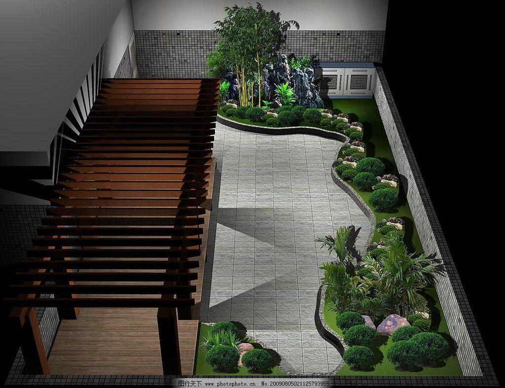 空中花园鸟瞰图 环境艺术        廊架 假山 绿地 防腐木 园艺 3d设计