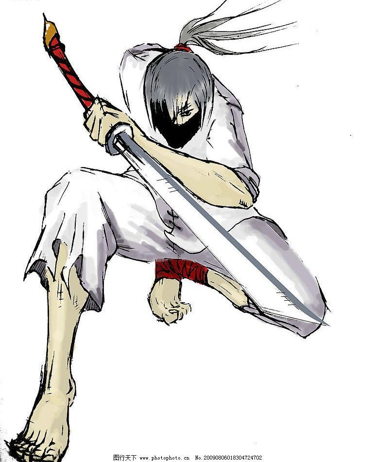 动漫 漫画人物 忍者 刀 漫画 插画 动漫动画 动漫人物 设计图库 72dpi