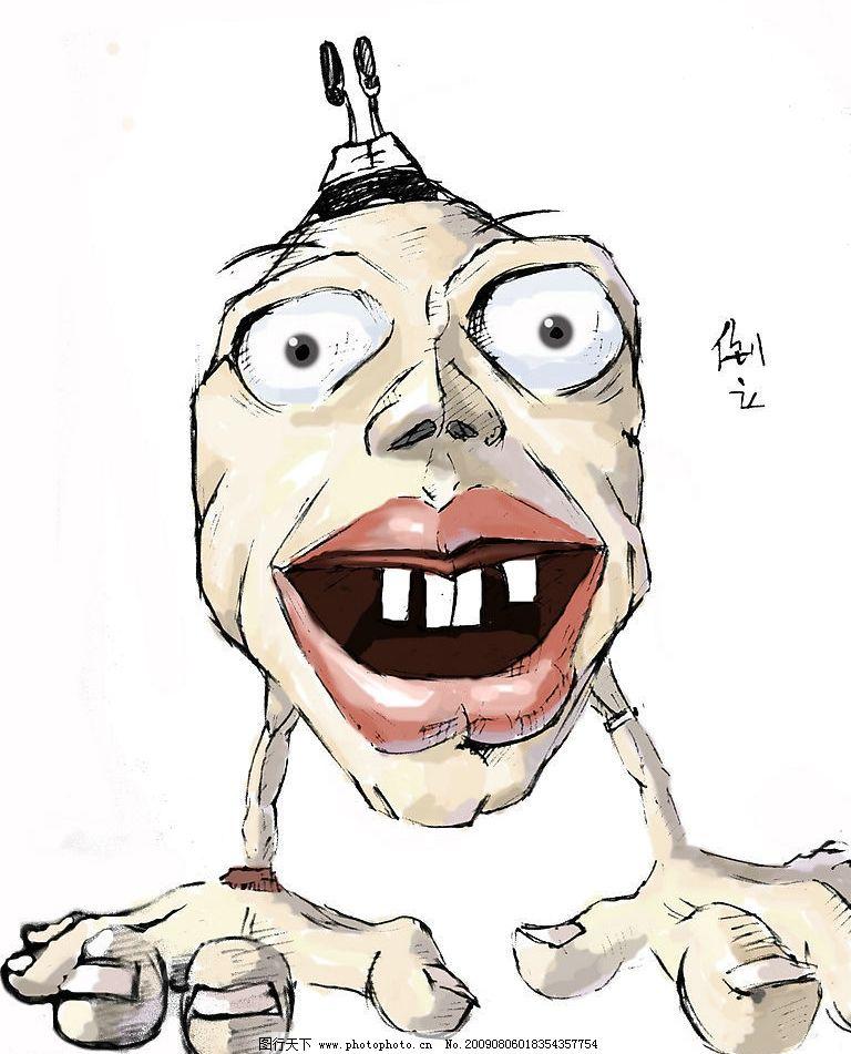 漫画人物 人头 倒立 漫画 动漫 动漫动画 动漫人物 设计图库 72dpi