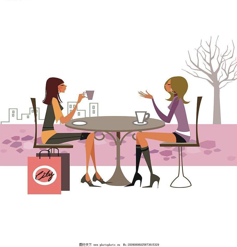 咖啡厅 动漫动画 动漫人物 设计图库 72dpi jpg 生活百科 餐饮美食