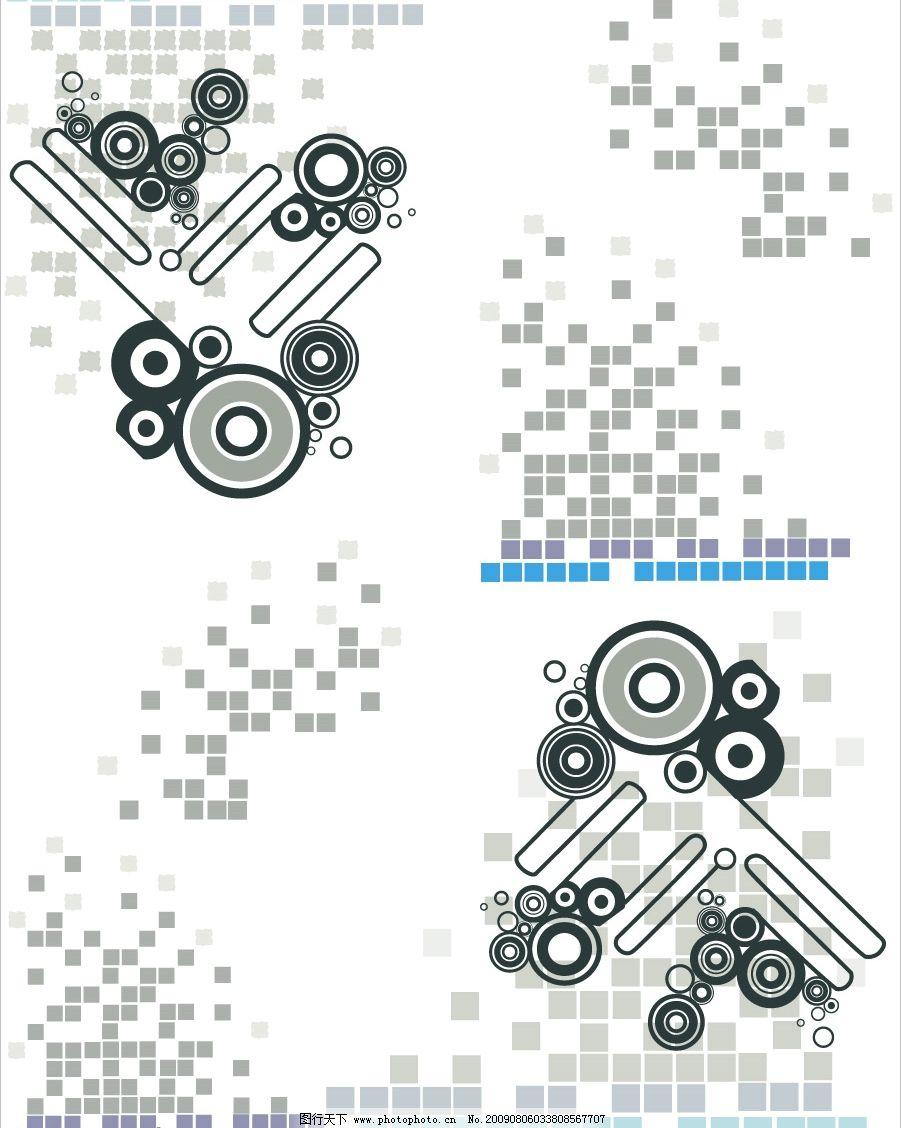 马赛克拼图 圆 方格子 圆圈 流行线 其他矢量 矢量素材 矢量图库