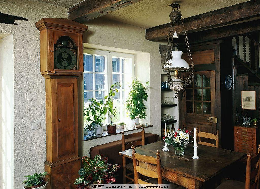 室内 欧式 简约 装修 渲染 装潢 客厅 餐桌 古老 建筑园林