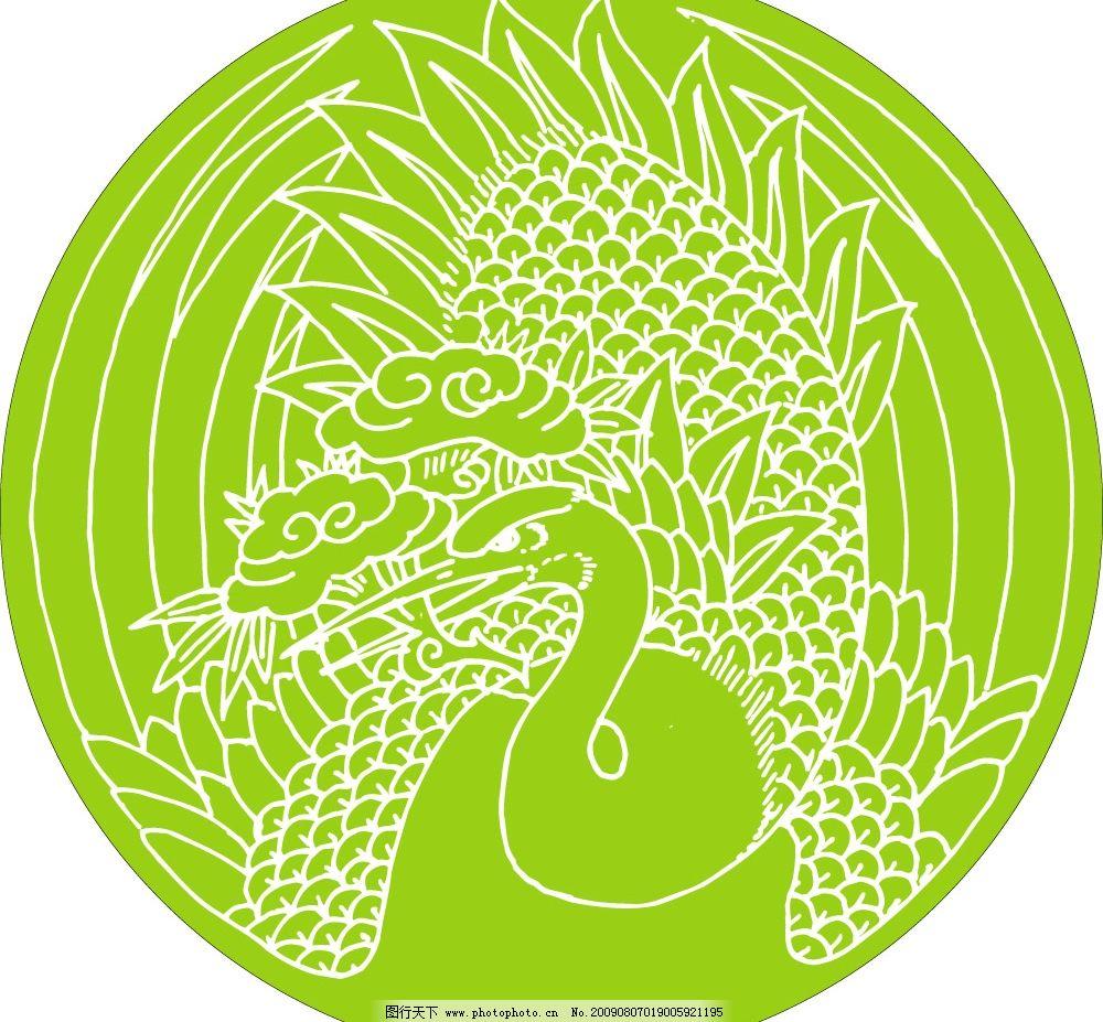 图案工艺 动物图案 吉祥图案 底纹 装饰图案 工艺图案 白鹤图案 工笔