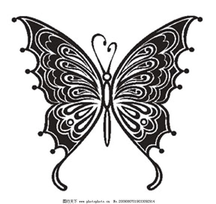 蝴蝶纹身素材 蝴蝶 纹身