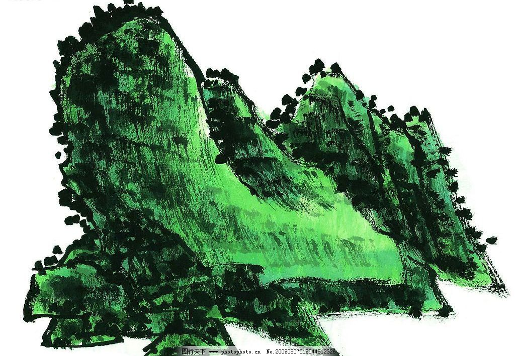 水墨山水画 水墨画 山水画 国画 风景画 文化艺术 绘画书法 设计图库