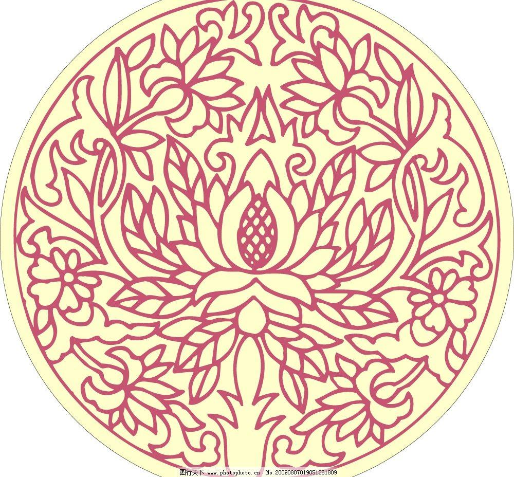 民间艺术 纺织花纹 工艺雕花 建筑装饰花纹 文化艺术 美术绘画 矢量