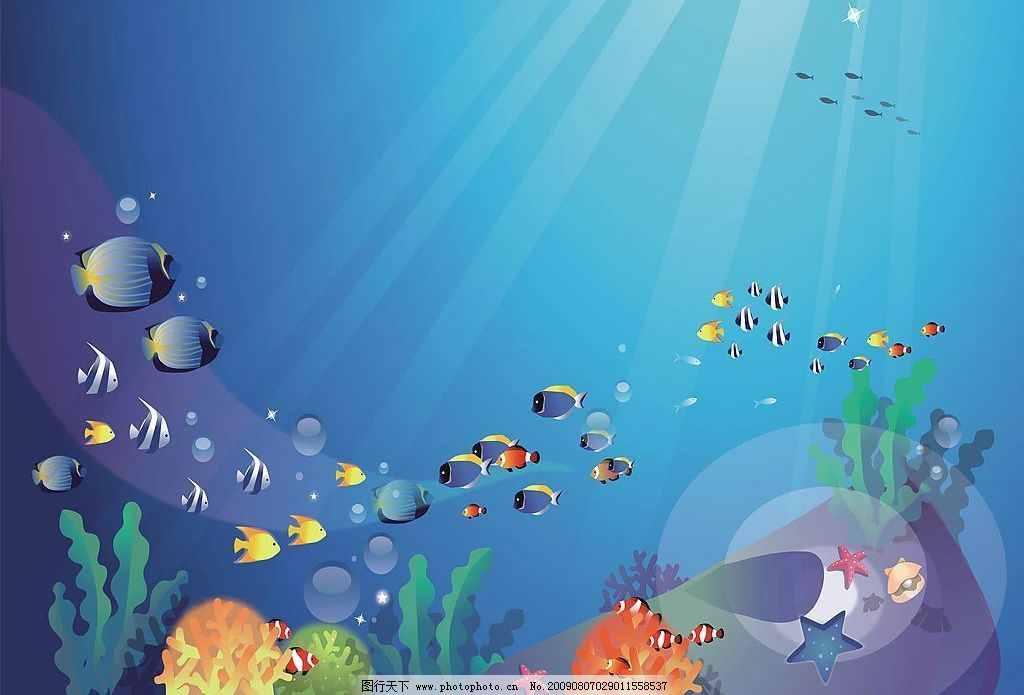 海底动物环境布置