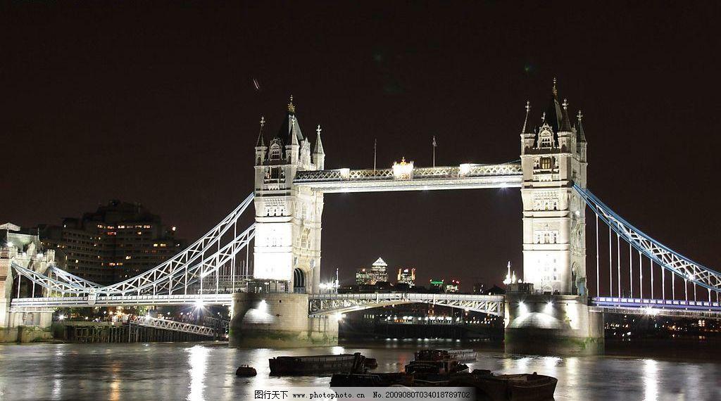 伦敦/英国伦敦塔桥的夜色美景图片