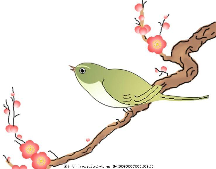 美丽的鸟儿卡通图片