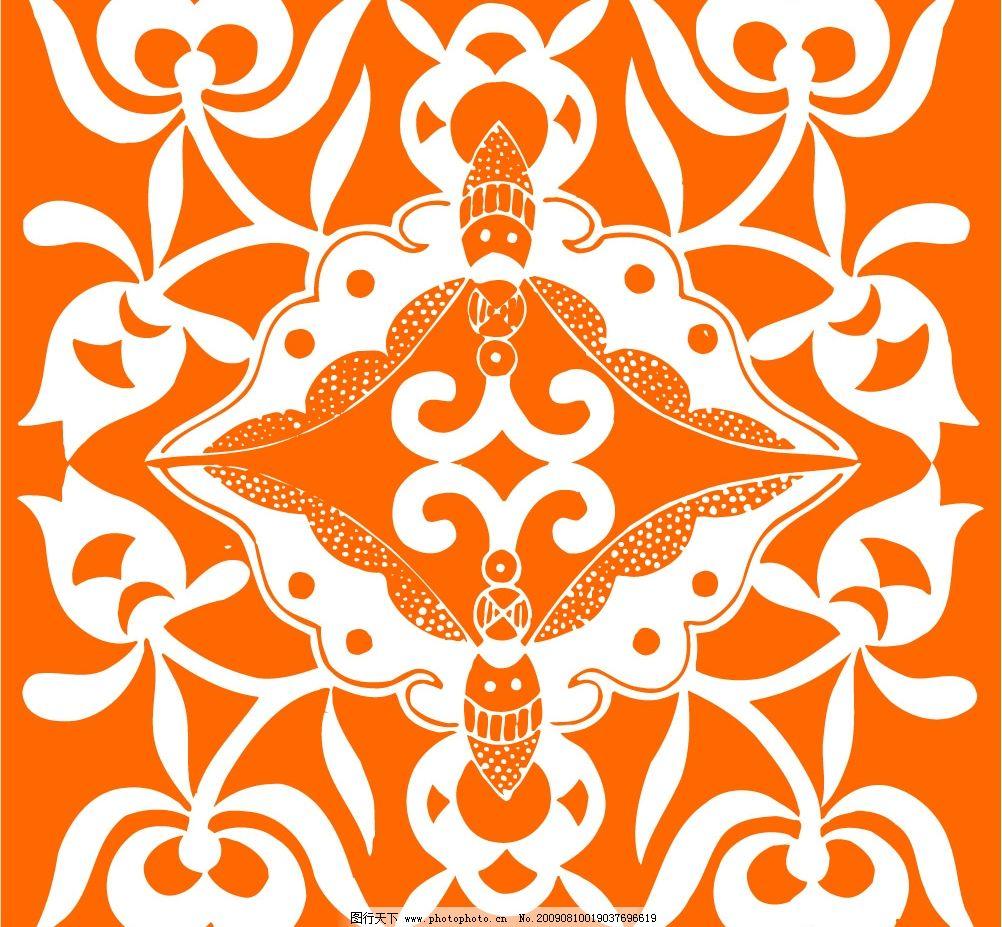 方形花样图 吉祥图案 花纹 底纹 装饰图案 工艺图案 平面花纹图 花鸟