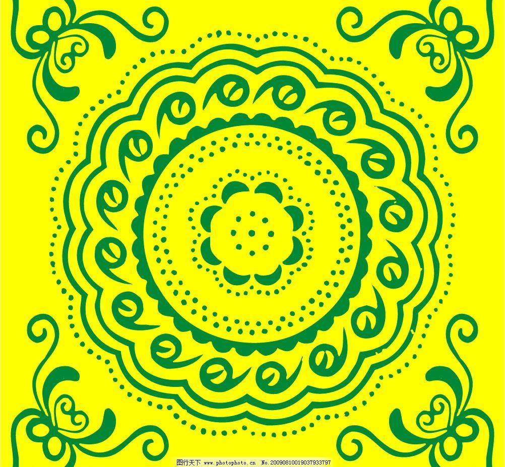 平面花纹图 花鸟图案 工笔造型 工艺美术 民间艺术 纺织花纹 工艺雕花