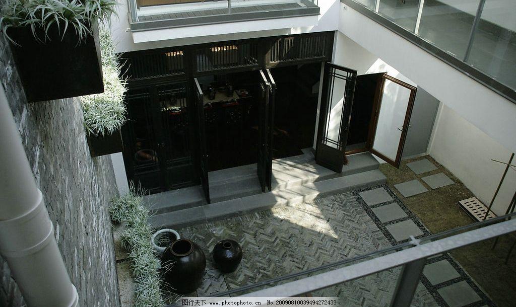 中式建筑 建筑摄影 房地产 俯视 院子 植物 传统 中式庭院 建筑园林