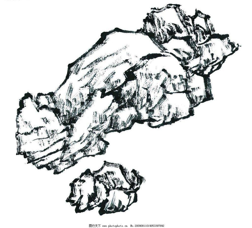 水墨山水画 水墨画 国画 风景画 文化艺术 绘画书法