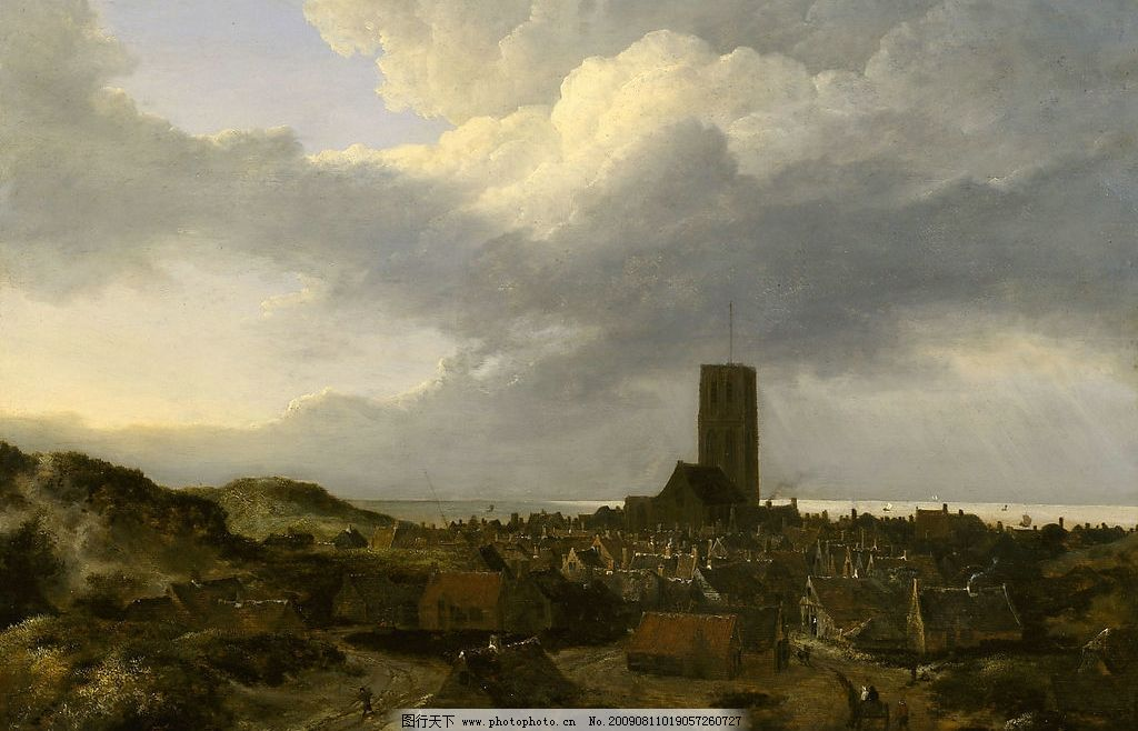 伦布朗 伦布朗油画 古典写实油画 风景油画 大师油画 高清晰 大图
