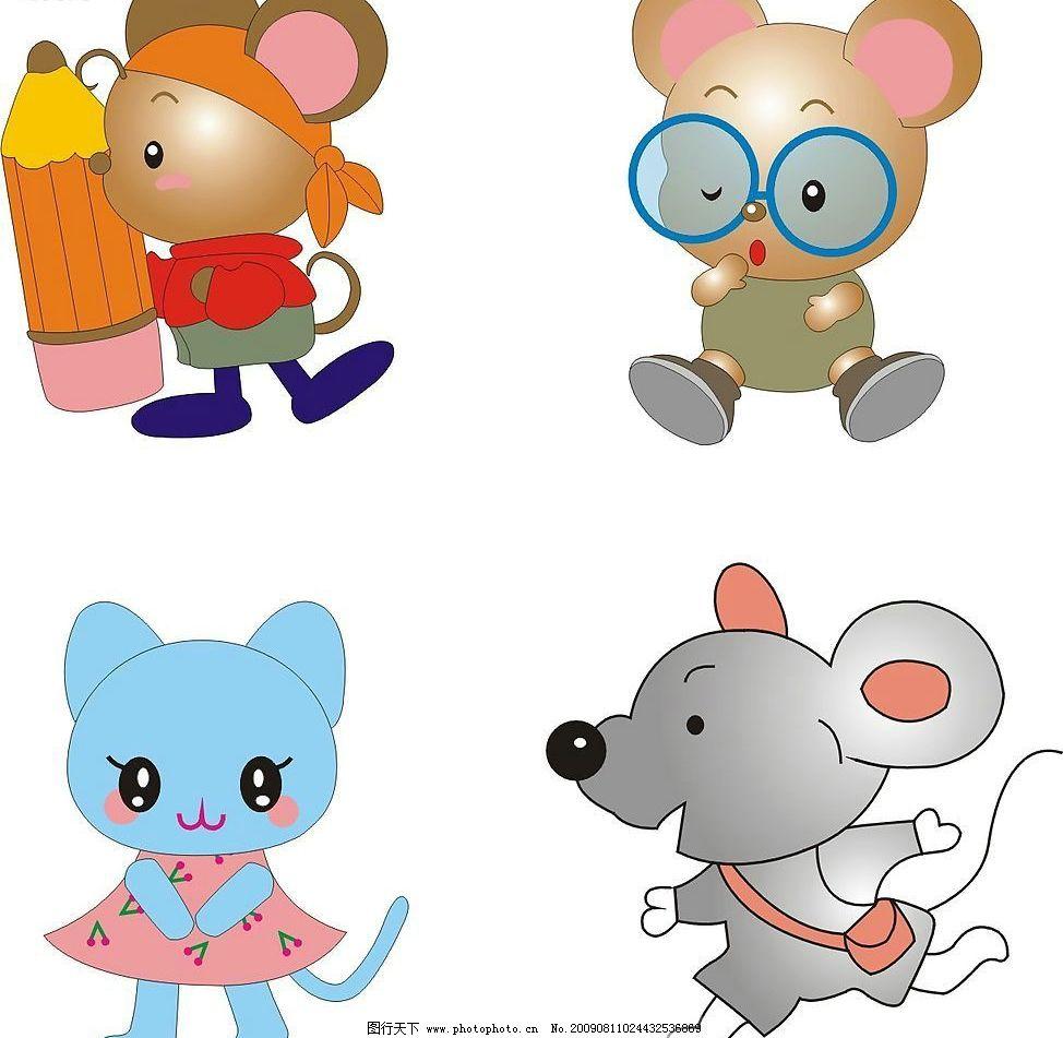 精品_可爱小老鼠 鼠 小动物 生肖 生物世界 野生动物 矢量图库 cdr