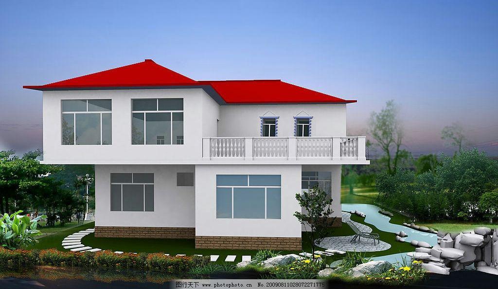 别墅 单体别墅 环境设计 建筑设计 设计图库 72dpi jpg