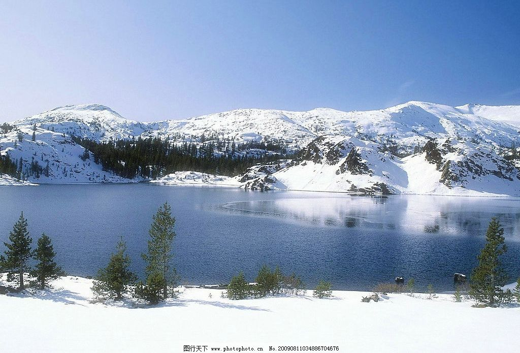 美丽山川 美丽风景 冰雪 雪山 山川 蓝天 白云 云层 天空 树木 高山