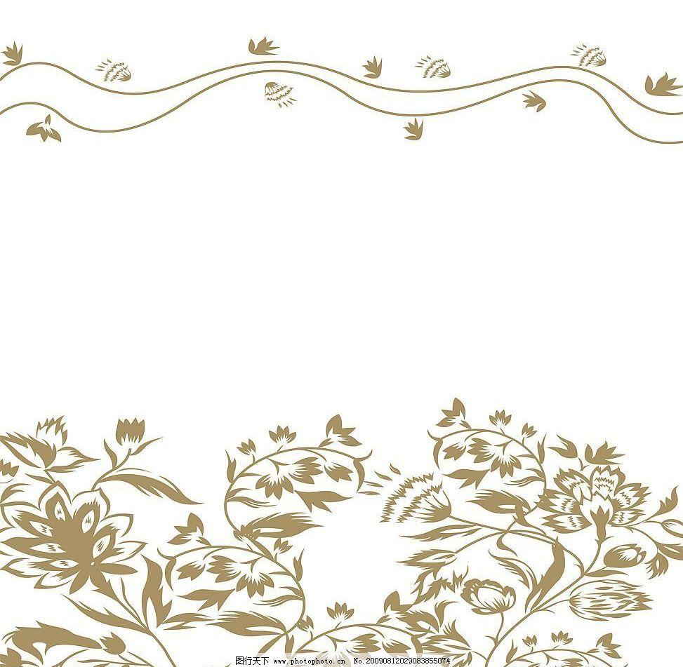 风情万种 玻璃移门图案 花纹 底纹边框 花边花纹 设计图库 72dpi jpg