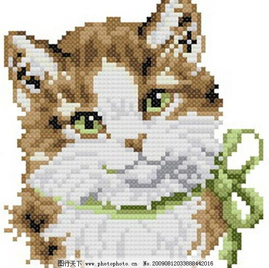 十字绣猫咪图纸图片